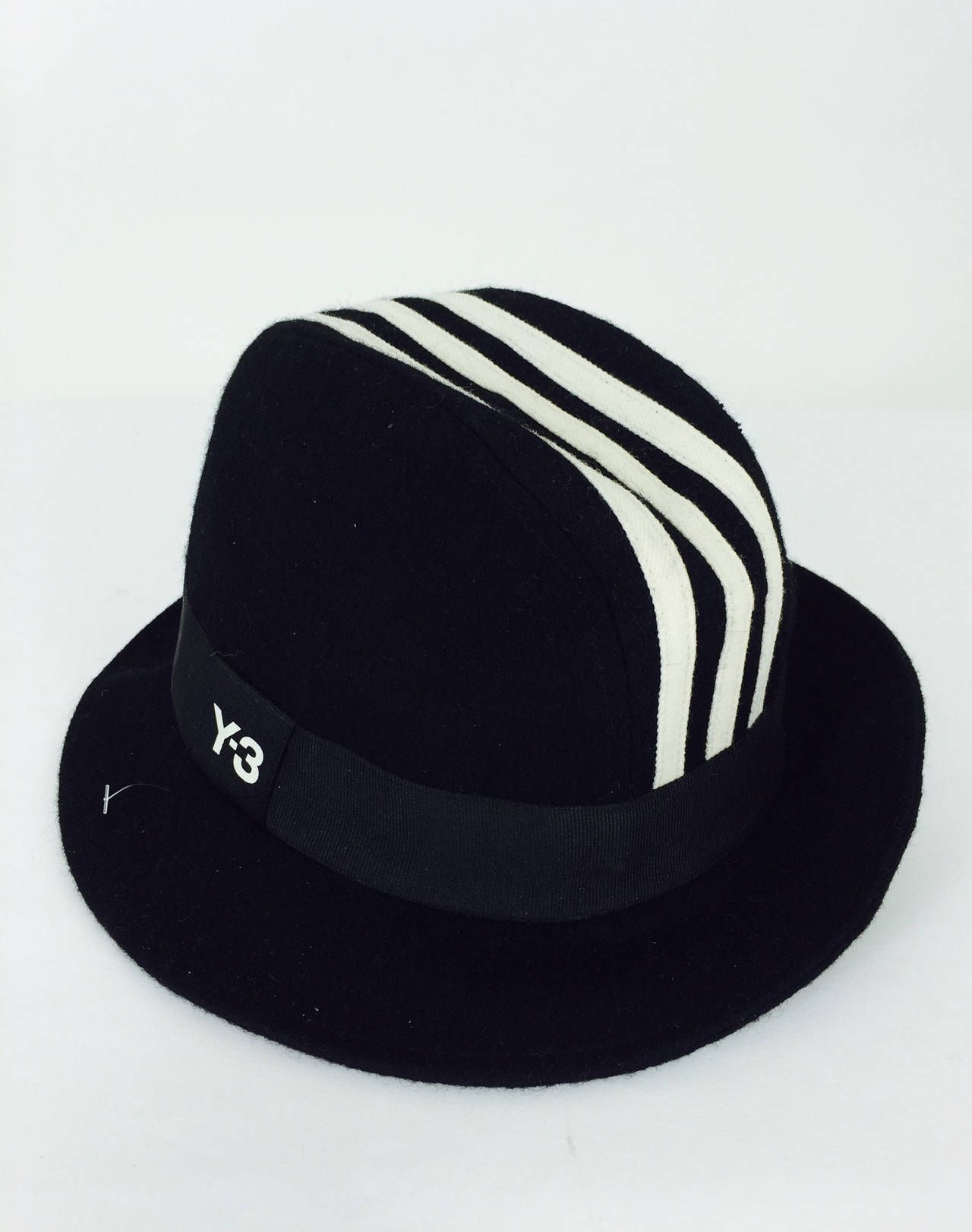 1c661a87e097cd Yohji Yamamoto Y-3 Adidas cashmere blend trilby fedora | From a collection  of rare