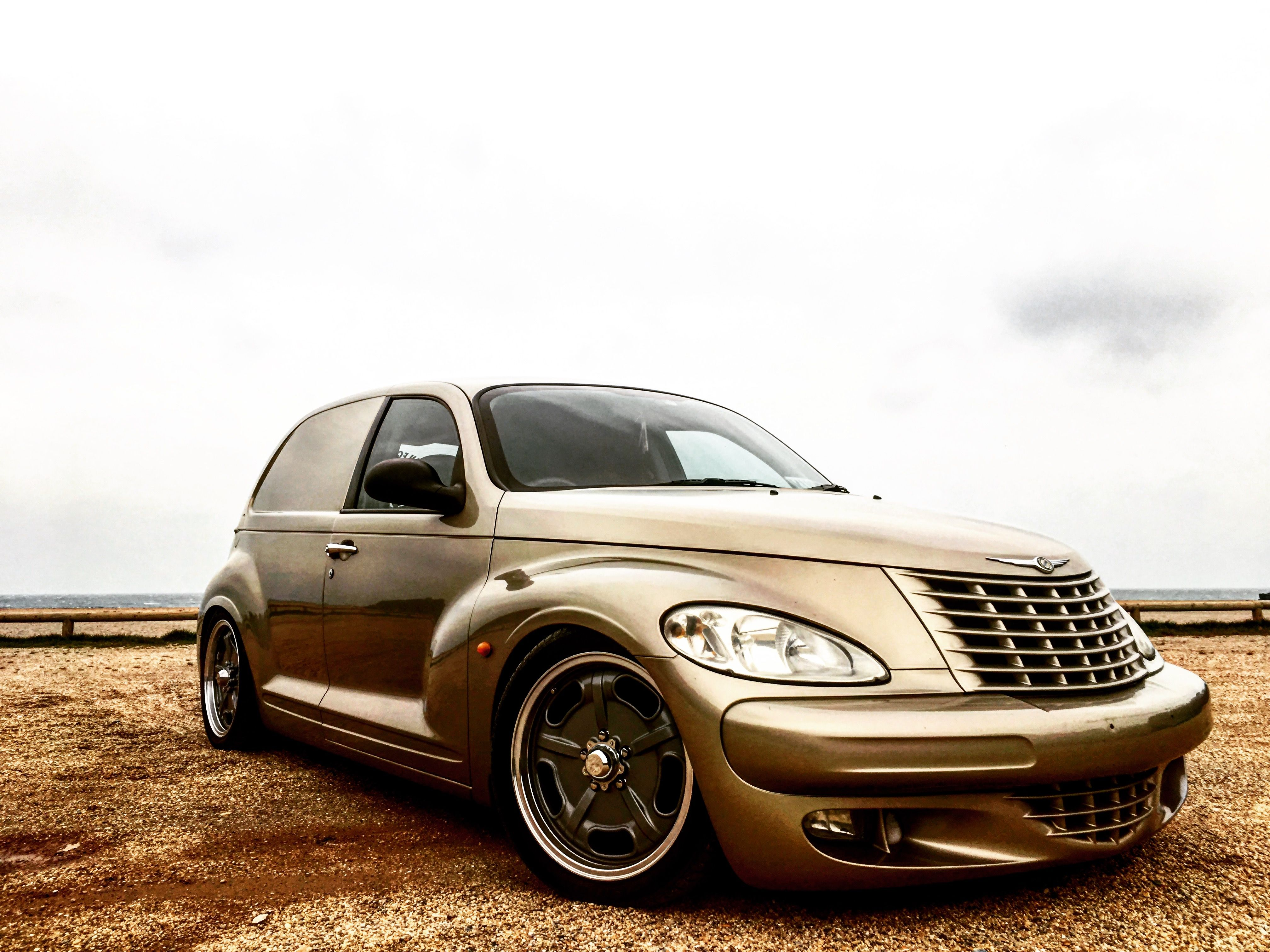 Bagged pt cruiser panel van standard delivery stanced air ride