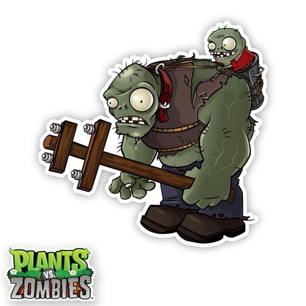 Plants Vs Zombies Video Game Wall Graphics Gargantuar Wall Art Plants Vs Zombies Birthday Party Plants Vs Zombies Zombie Birthday