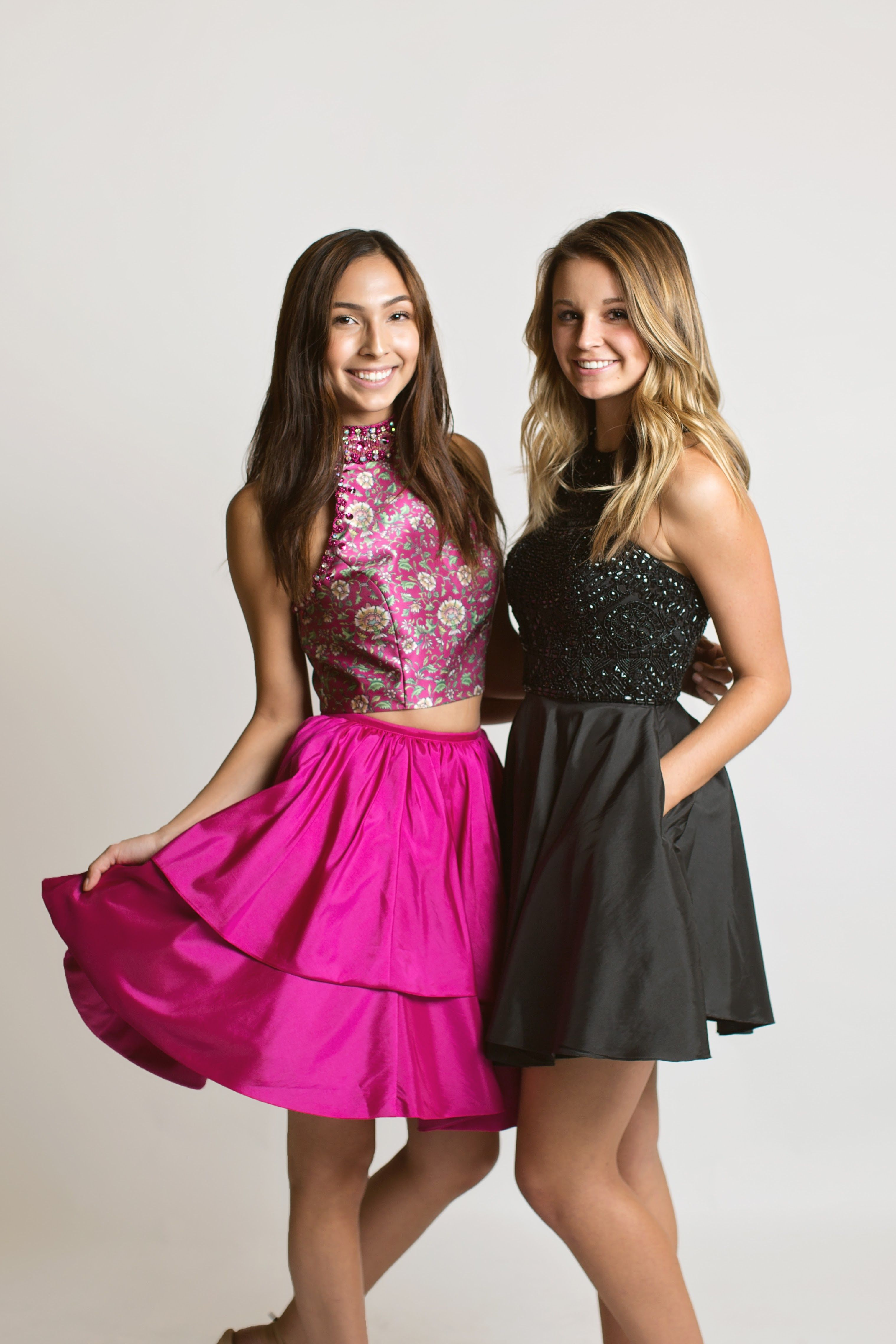 e9635e54fed6 Sherri Hill Short Magenta Hot Pink and Short Black Party NYE New Years Eve Glamour  Dresses Ypsilon Dresses Prom Pageant Homecoming Sweethearts Special ...