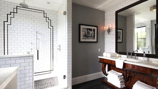 Decoratie badkamer muur eigen huis en tuin