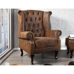 oorfauteuil chesterfield vintage meubels outlet beslistnl