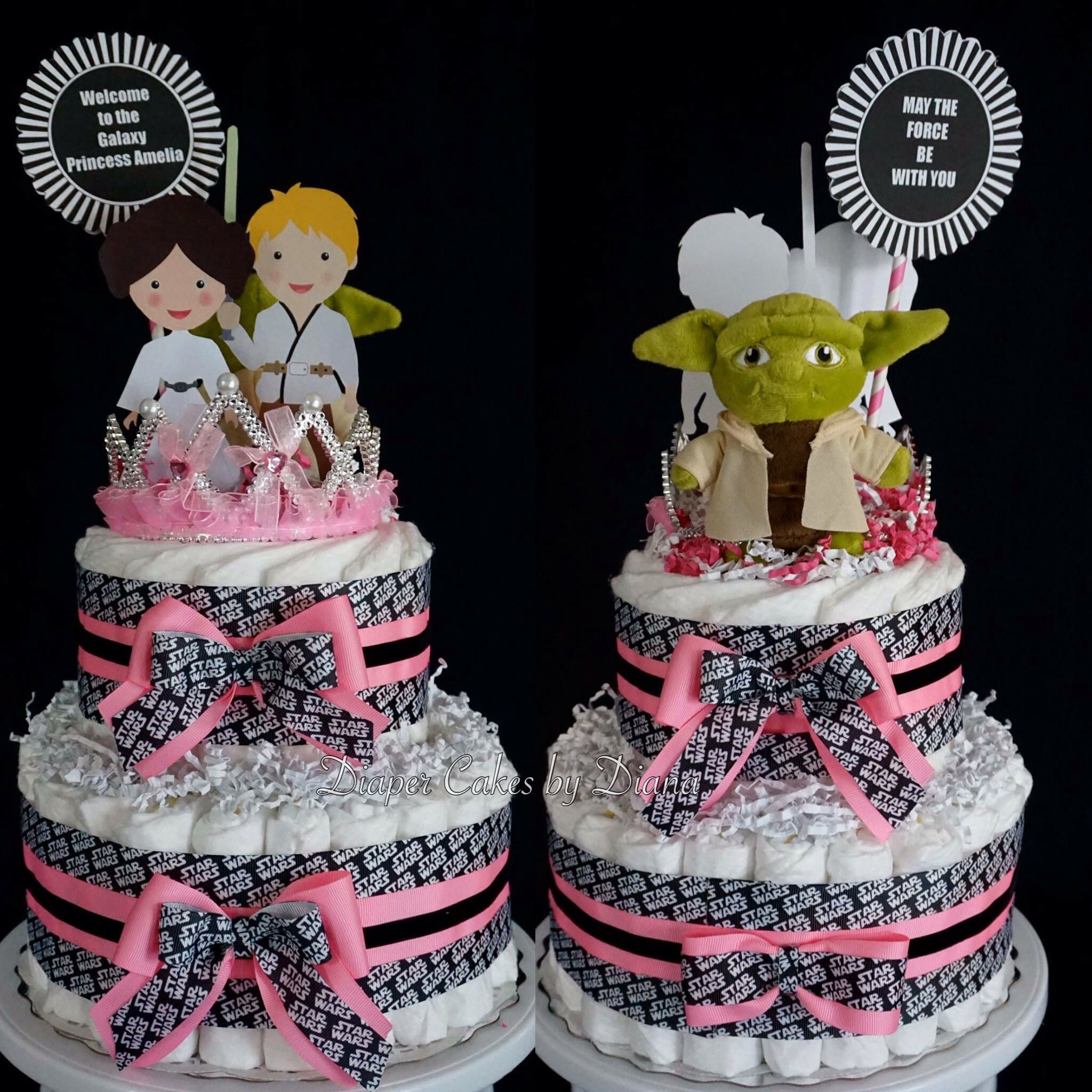 Star Themed Gifts Baby Girl Star Wars Themed Diaper Cake Facebook