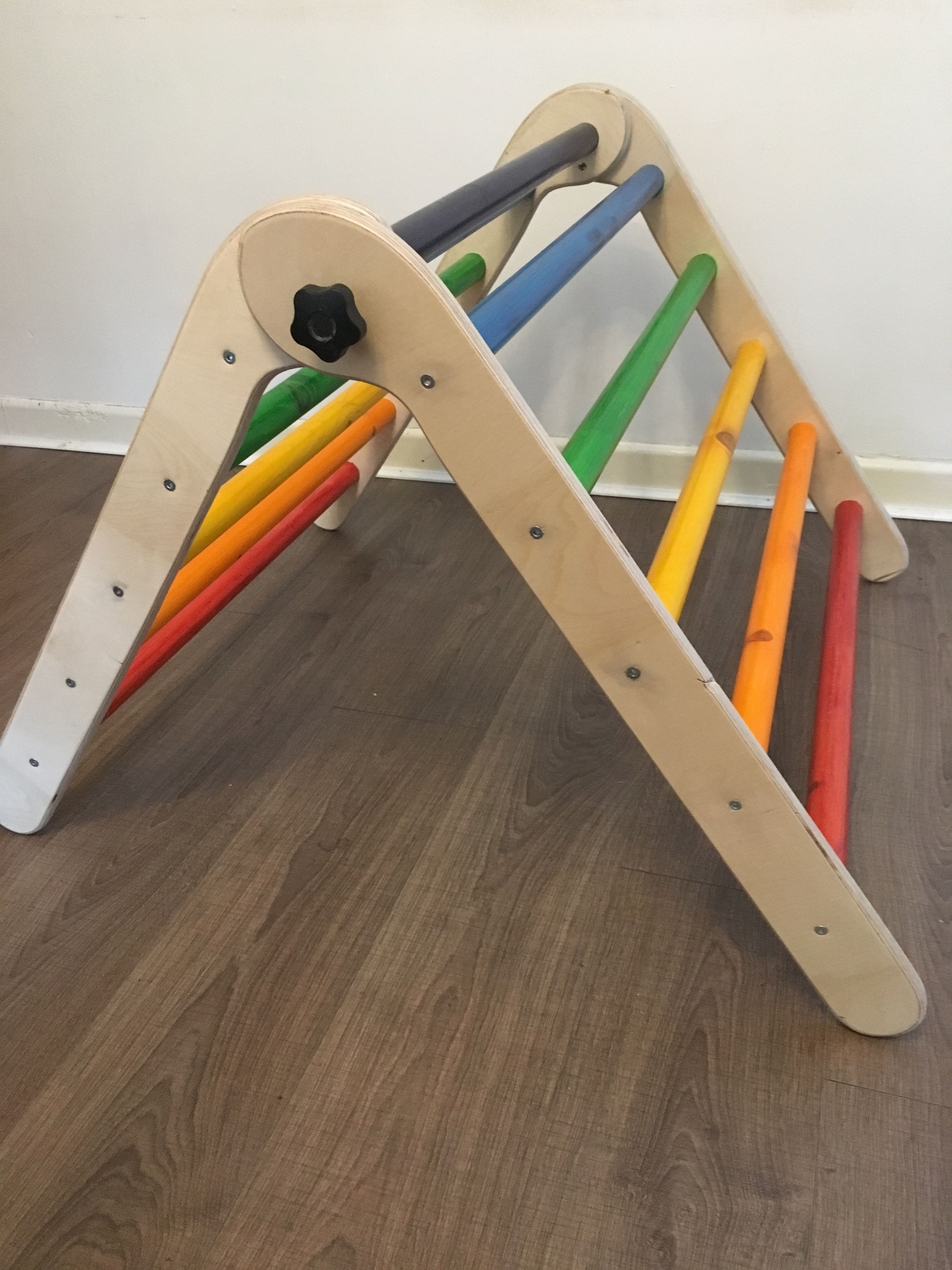 Pikler inspired folding climbing frame from Sawdust and Rainbows ...