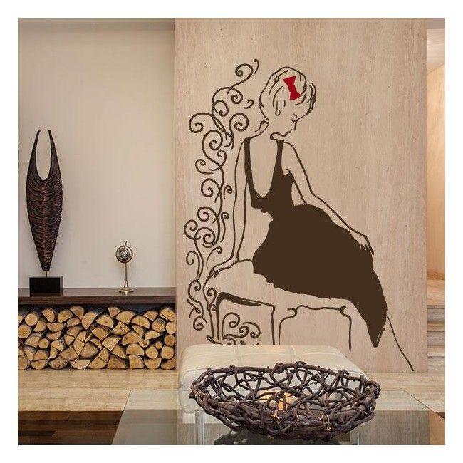 Vinilos decorativos silueta mujer glamour decoraci n pinterest silueta mujer puertas - Puertas decoradas con vinilo ...