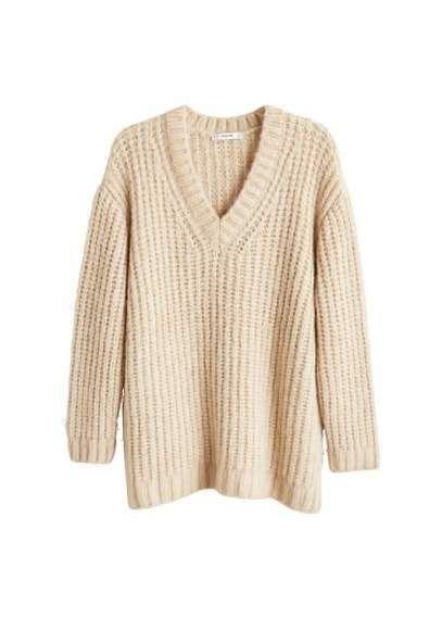 a63d5b6dac6546 MANGO Openwork knit sweater Knitted Fabric, Knit Sweaters, Sweaters For  Women, Mango,