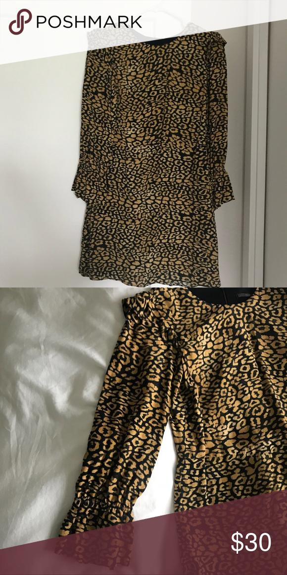5a926ebe43 Spotted while shopping on Poshmark  Leopard print mini Zara dress!   poshmark  fashion  shopping  style  Zara  Dresses   Skirts