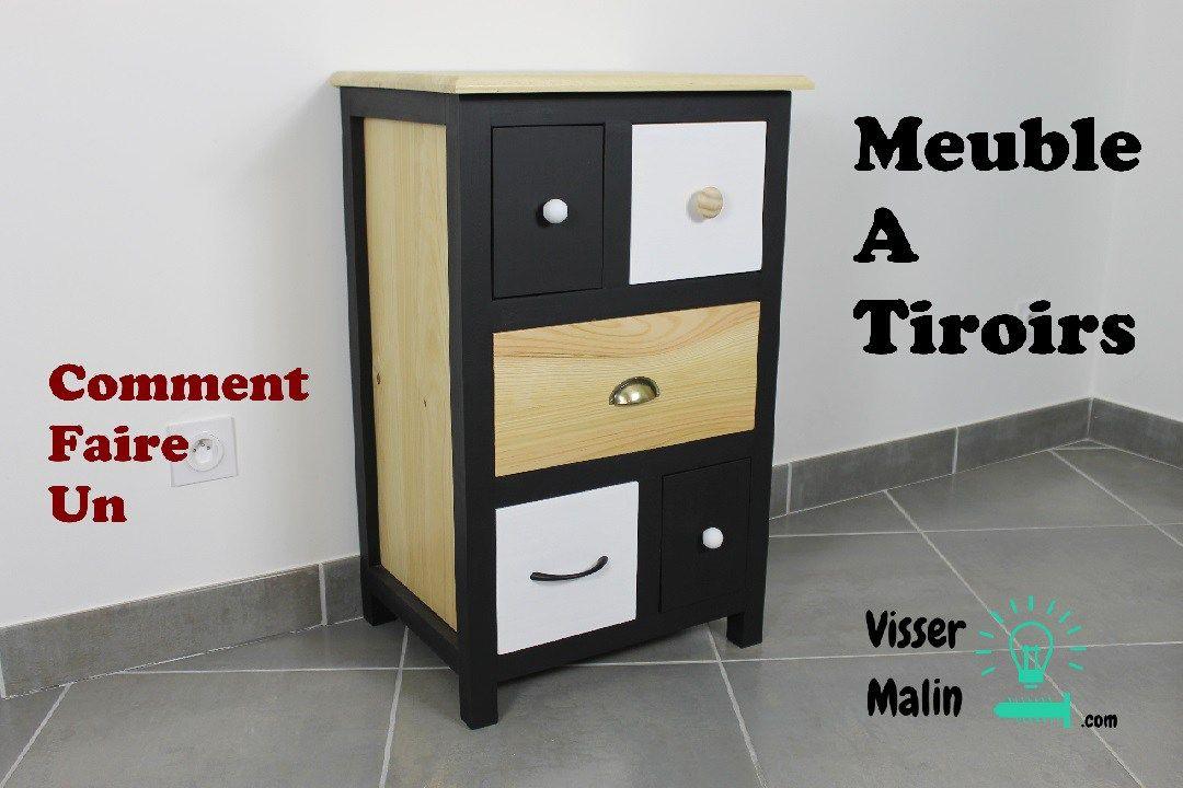 comment fabriquer un meuble tiroirs diy vissermalin. Black Bedroom Furniture Sets. Home Design Ideas