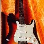1959 Slab Board Fender Stratocaster Sunburst. For Sale: $24,500 #fender #stratocaster #strat #fenderstratocaster #fenderguitar #fenderstrat #vintagefender #vintagefenderstratocaster #vintageguitar #vintageelectricguitar #vintagefenderguitar