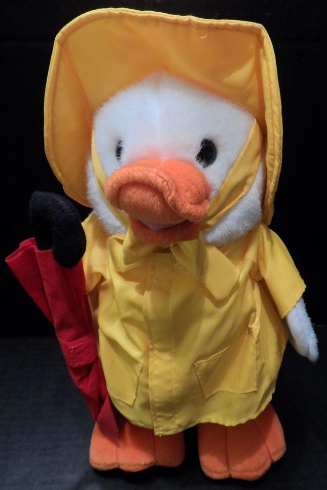 Plush duck raincoat umbrella people pals unisex stuffed animal 12 negle Choice Image