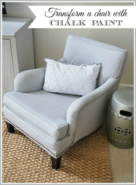 How to use chalk paint to paint an upholstered fabric chair is part of Chalk paint chairs - How to makeover a vintage chair with chalk paint, an easy way to give an old piece of furniture a new life with just some water and paint
