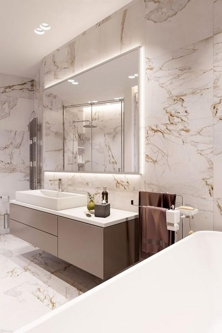55 Stuning Marble Bathroom That Make Your Bathroom Look Luxurious Bathroom Design Luxury Bathroom Interior Design Luxury Bathroom Master Baths