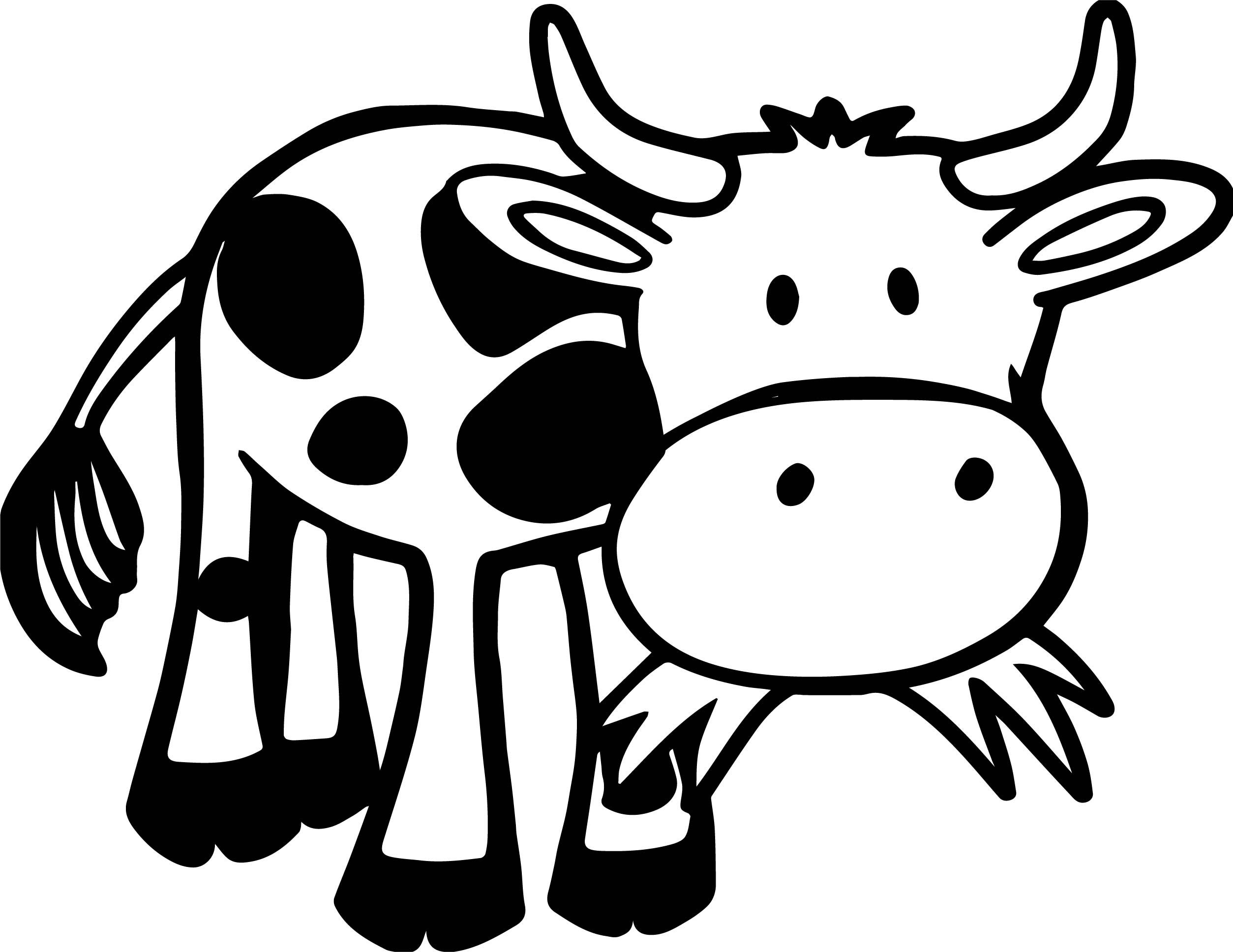 Baby Farm Cow Animal Coloring Page   Cow coloring pages