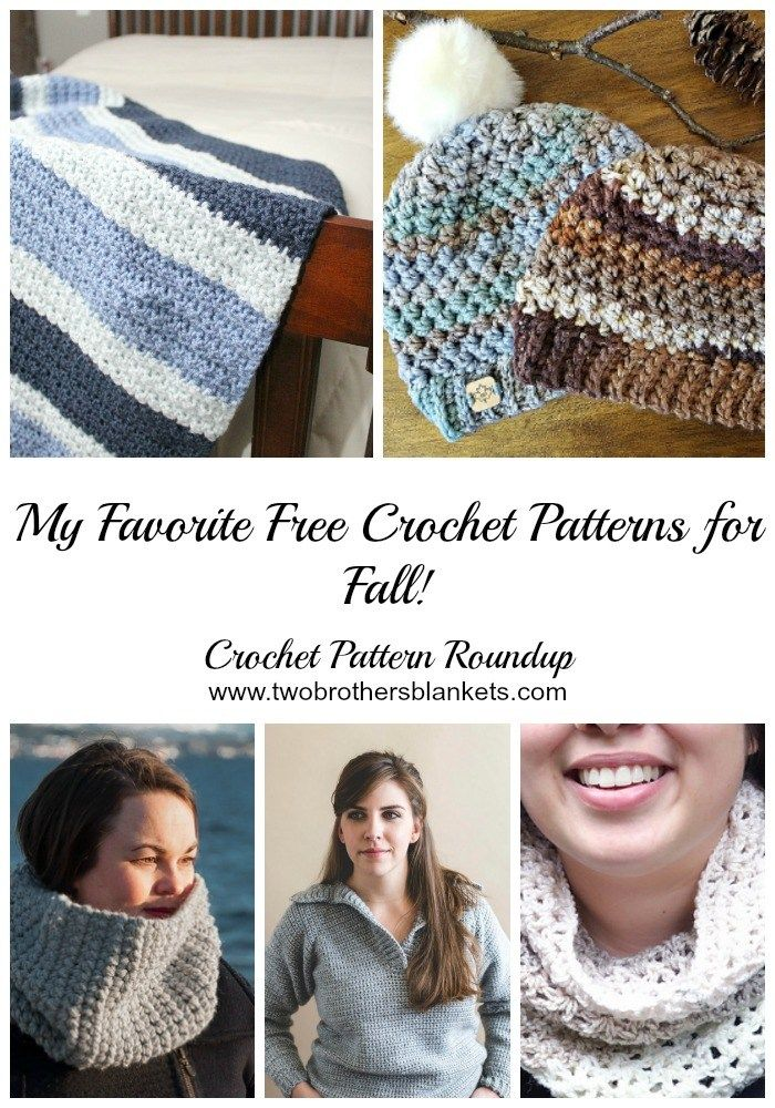 My Favorite Free Crochet Patterns for Fall! - Two Brothers Blankets ...