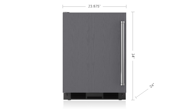 24 Quot Undercounter Refrigerator Freezer With Ice Maker