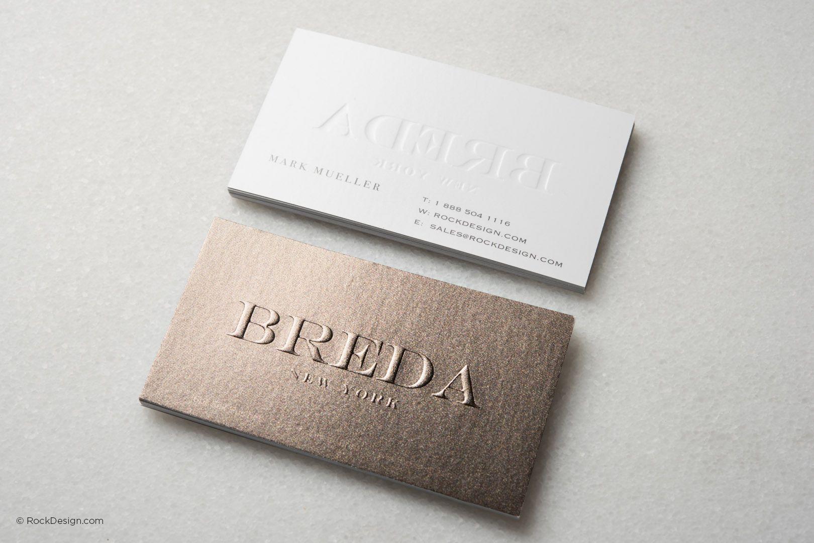 Sparkling modern business card template - Breda | RockDesign ...