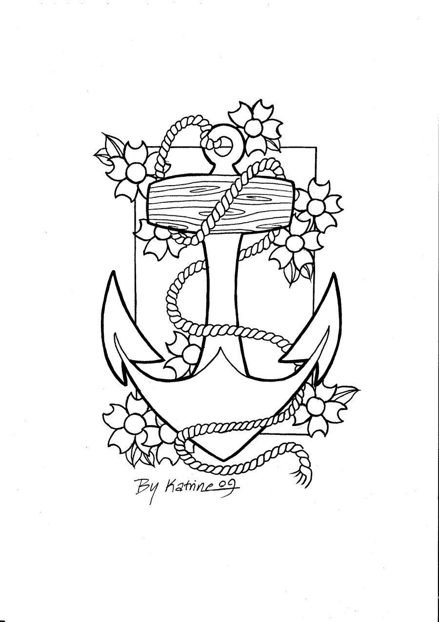 Anchor By Koyasan On Deviantart Flower Drawing Drawings Digi Stamp