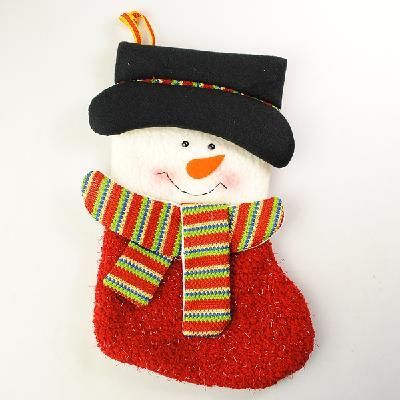 Christmas Stocking Present Sock Xmas Decoration Cute Snowman ...