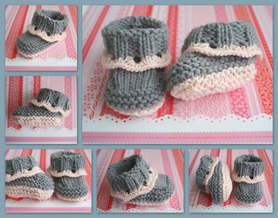 Baby Booties Knitting Pattern Easy : The Createry Shop: Easy Baby Booties - Sweet Eyelet Booties Knitting Pattern ...