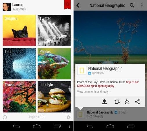 Flipboard officially launches on Android, in multiple app