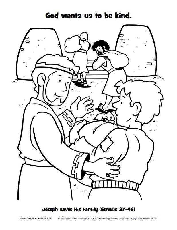 joseph saves his family colouring pages christian kids ideas