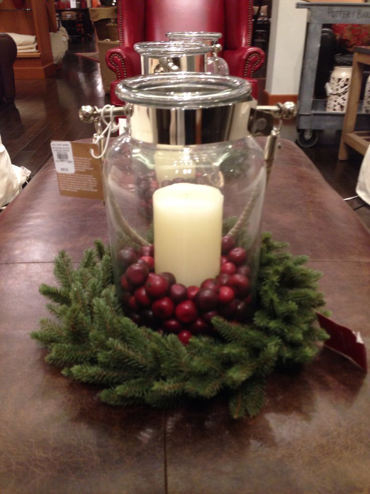 pottery barn christmas decor love but i think i can make this myself for cheap christmas. Black Bedroom Furniture Sets. Home Design Ideas