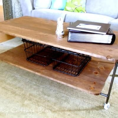 DIY Restoration Hardware Inspired Coffee Table {Coffee & Side Tables}