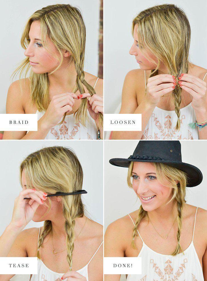 #Easy #Festival #haar #hairstyles #OPTI #Pigtail Braids