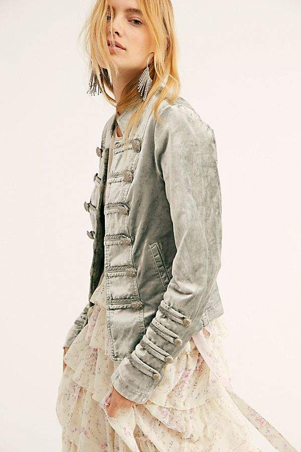 Fitted Velvet Military Jacket (With images) | Military