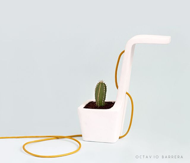 1o11 Swan lamp by Octavio Barrera #deco #decoration #light #lamp #lampe #luminaire #design #vase #nature #cactus