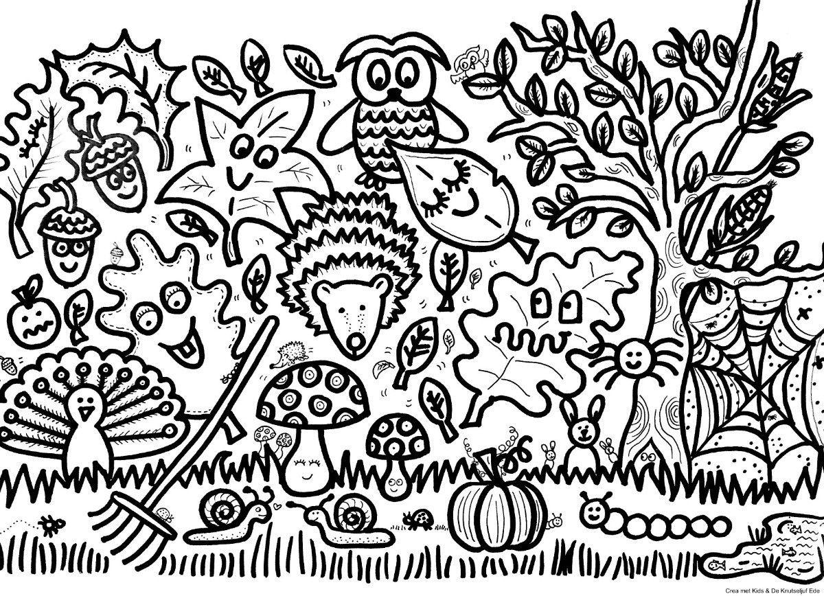 Block Poster Herfst Kleurplaat Voor 25 Personen Blockposter Kleurplaat Herfst Samenwerken De Knutseljuf Ede Kleurplaten Poster Herfst