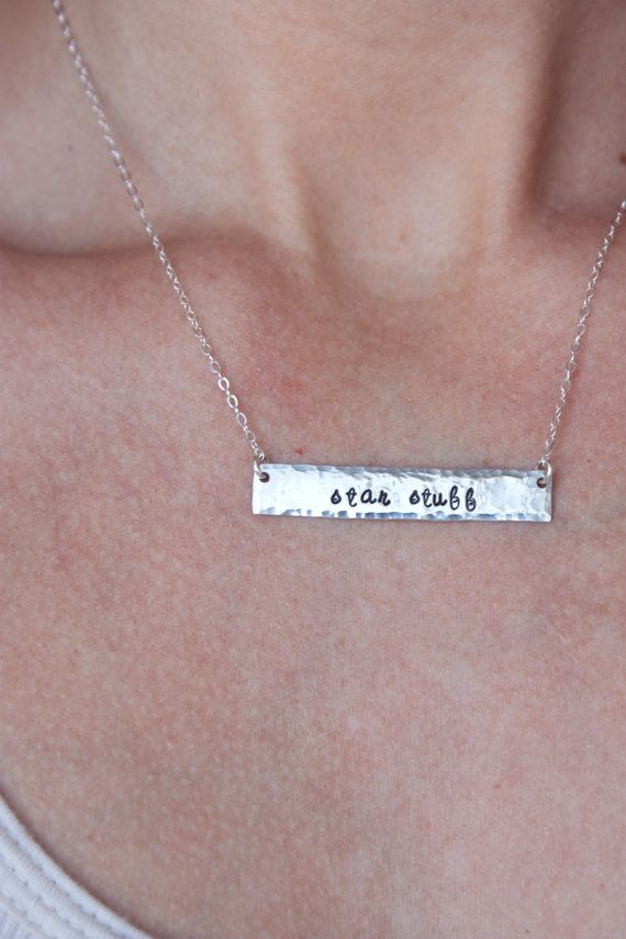sterling silver star stuff bar necklace bar necklace by ZennedOut