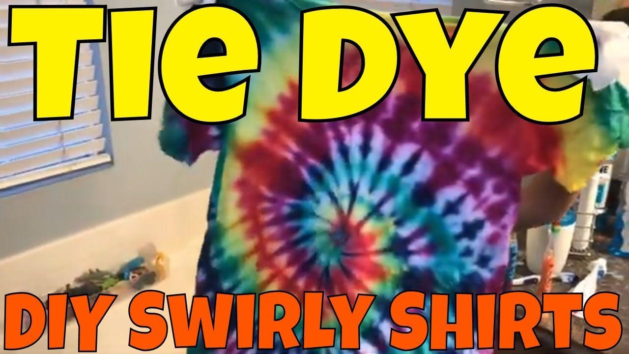 Diy swirly tie dye tshirts how to tutorial rainbow swirl