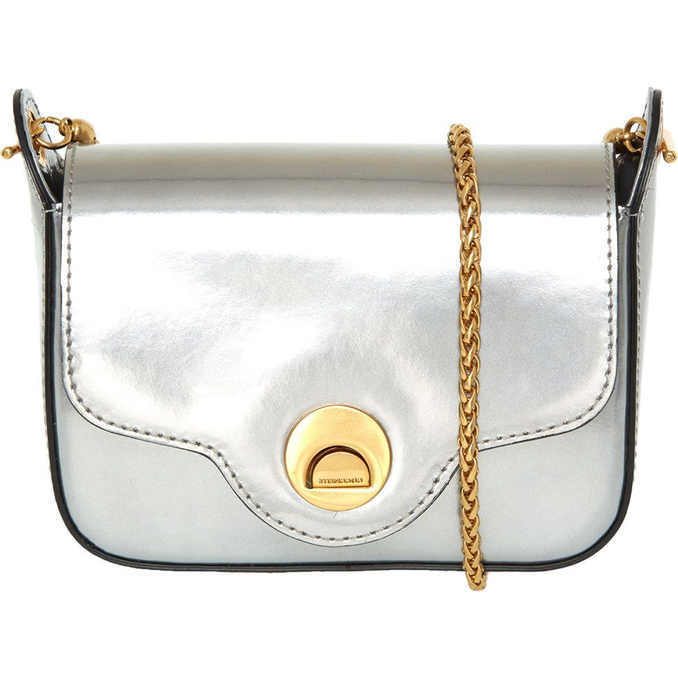 f4e288afa61 Silver Tone Leather Clutch Bag - Handbags - Accessories - Women - TK Maxx   silverleatherclutchbag