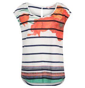 """T-Shirt """"Macarena"""", Blumenmuster, Streifen"""