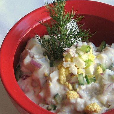 Creamed Herring Salad Recipe Herring Recipes Salad Recipes Herring Salad Recipe