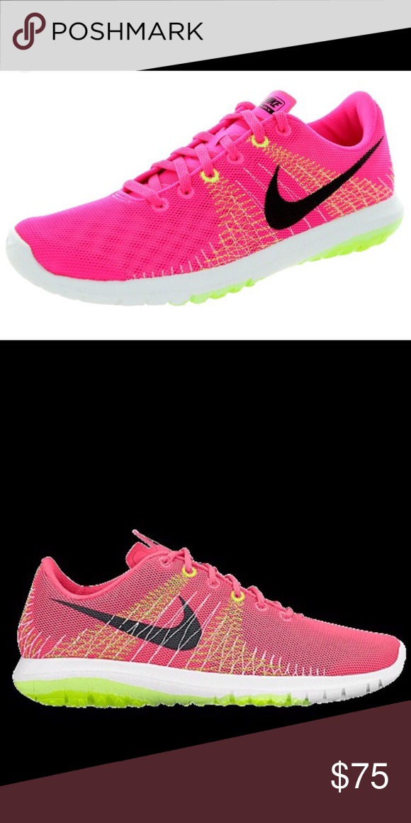 ba68b177cd0a1 Nike Flex Fury Nike flex fury running shoes in pink power lime volt in size  10. Worn a couple times but great condition. Will post actual photos  shortly ...