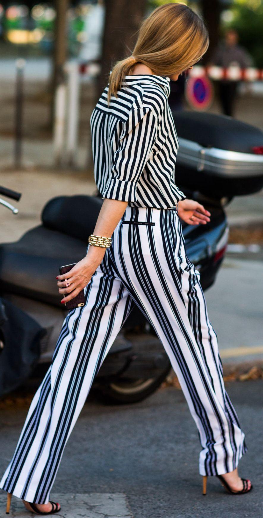 Olivia Palermo All Stripe Everything Fall Inspo