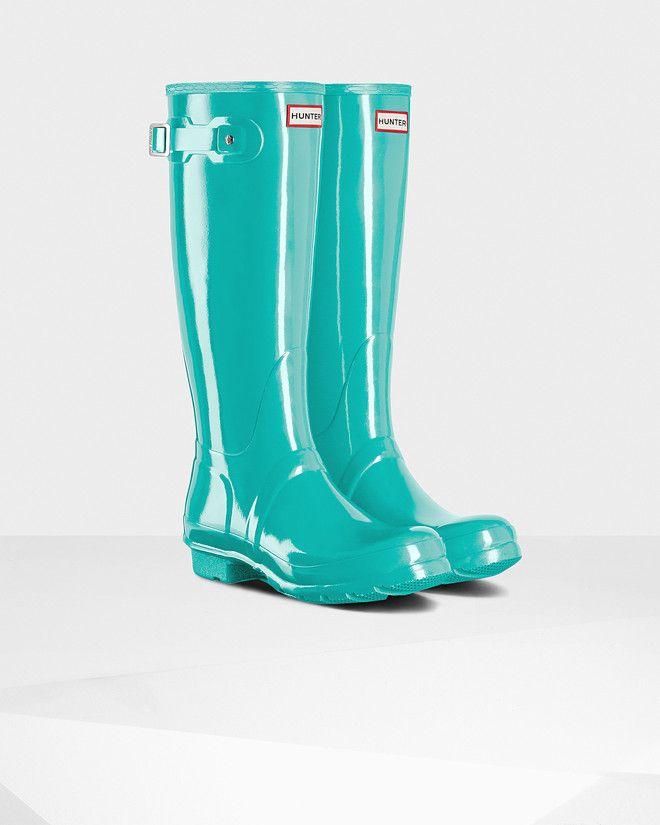 ac5539d08ab Women s Original Tall Gloss Rain Boots Botas Hunter
