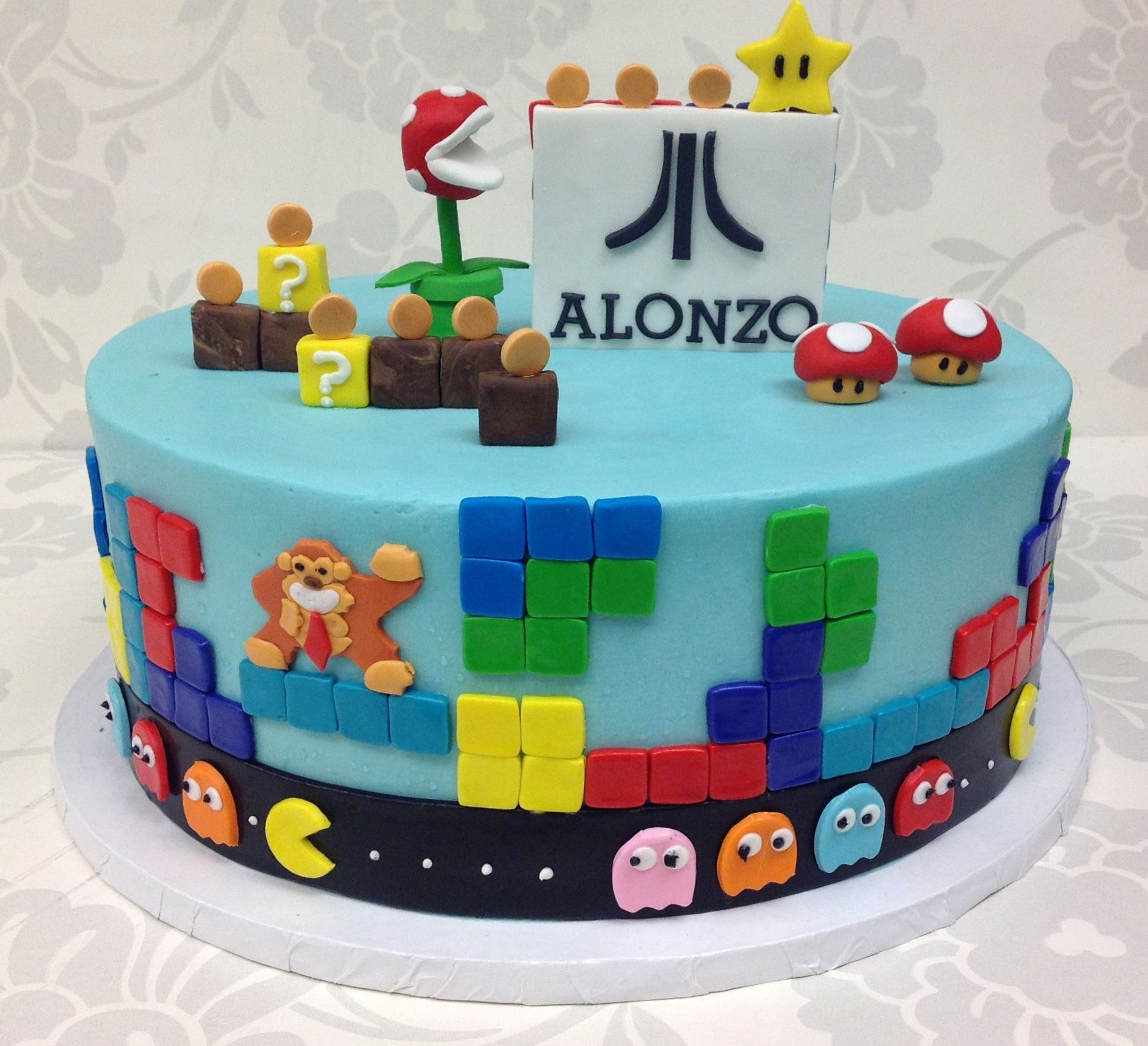 80's Video Game Themed Cake From The Cupcake Shoppe In