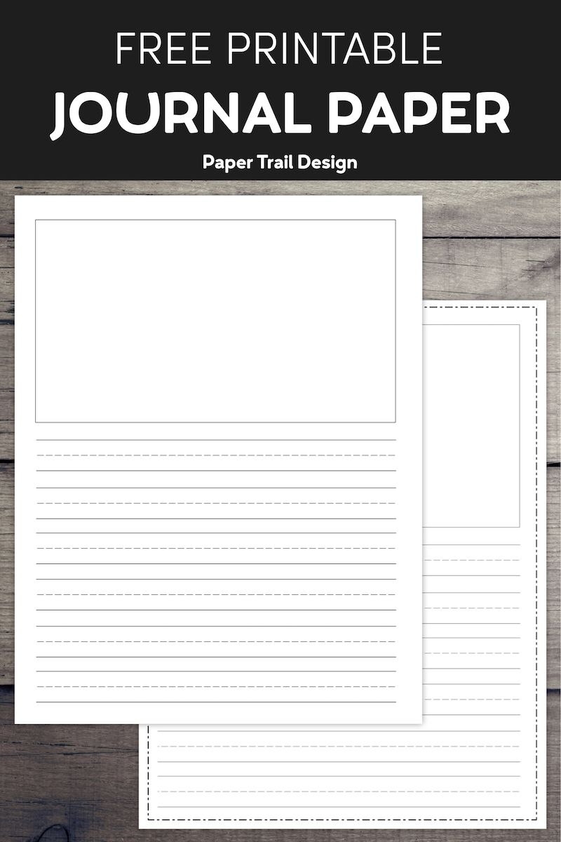 Free Printable Lined Writing Paper With Drawing Box Paper Trail Design Lined Writing Paper Kids Journal Writing Paper Printable Free elementary writing paper