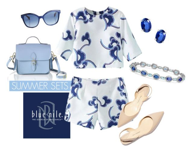 """Summer Sets"" by bluenile ❤ liked on Polyvore featuring The Cambridge Satchel Company, Blue Nile, Paul Andrew and Fendi"