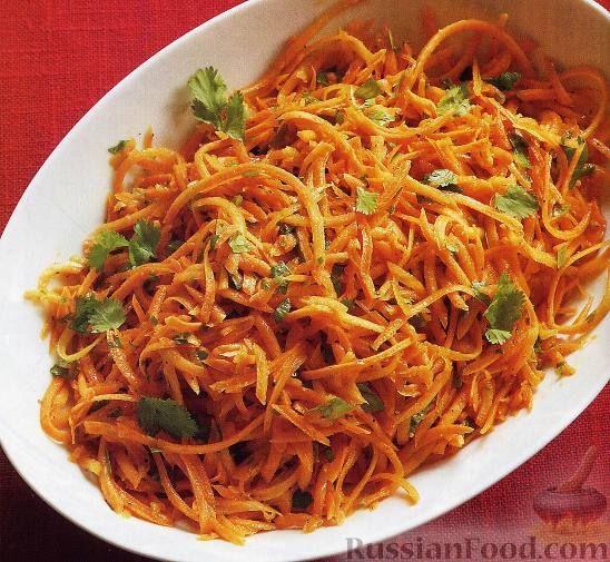 Фото к рецепту: Салат из свежей моркови с кинзой   Рецепты ...