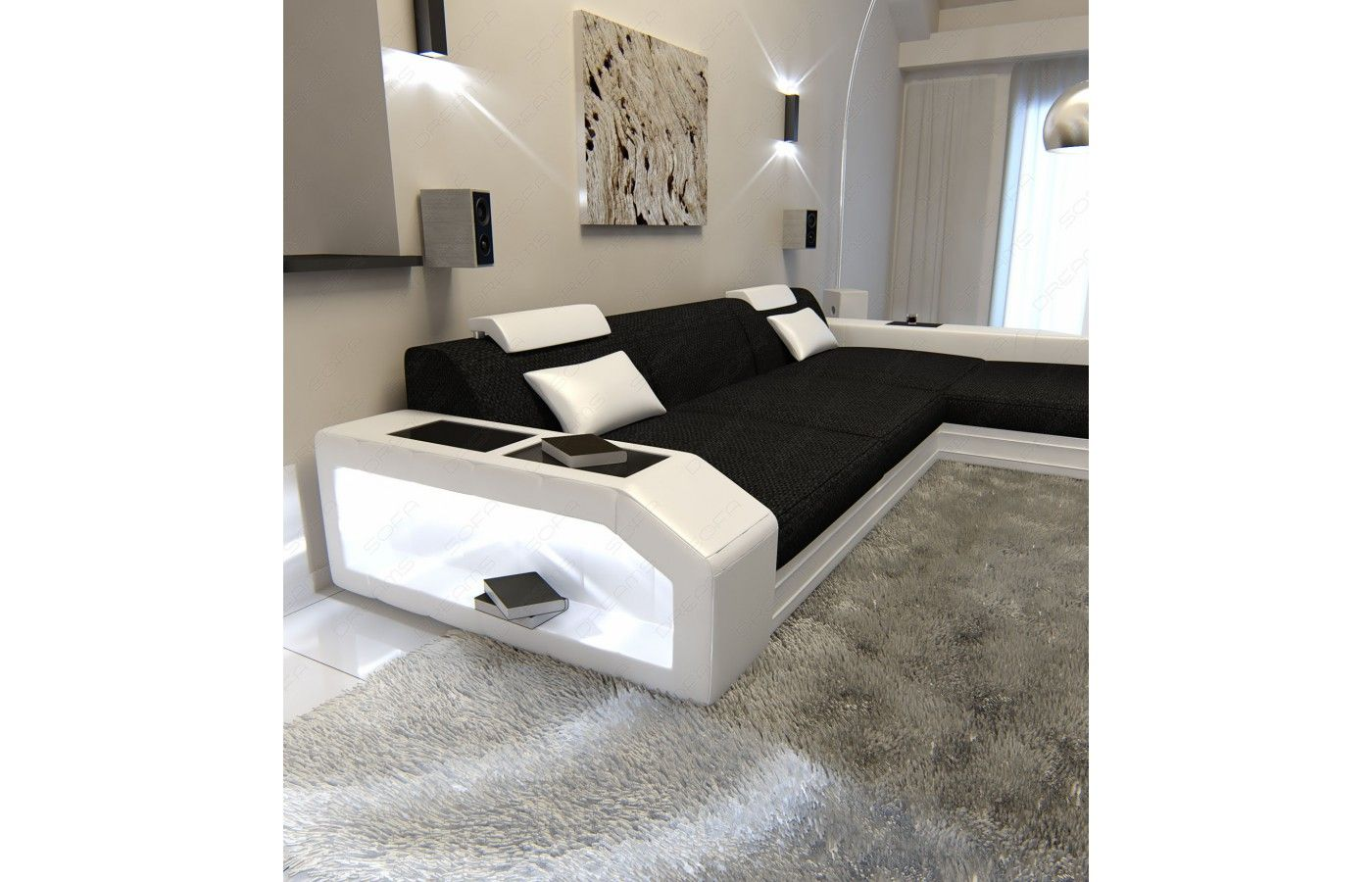 stoffsofa prato l-form in schwarz-weiß. exklusiv bei sofa dreams ... - Schwarz Wei Sofa