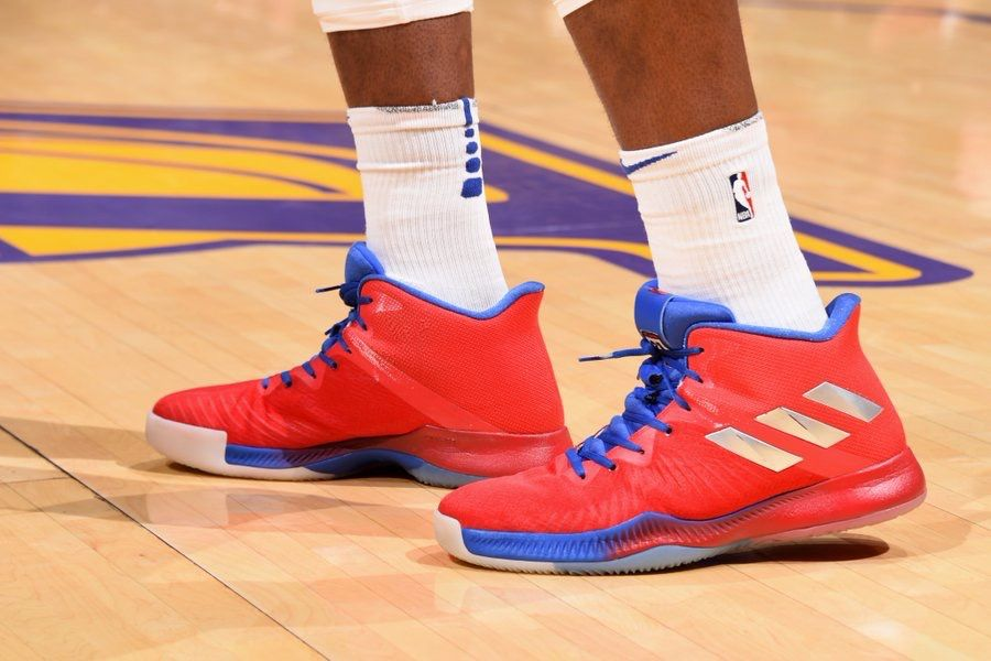 bcee94df183 The Adidas Mad Bounce sneaker in 76ers colors!
