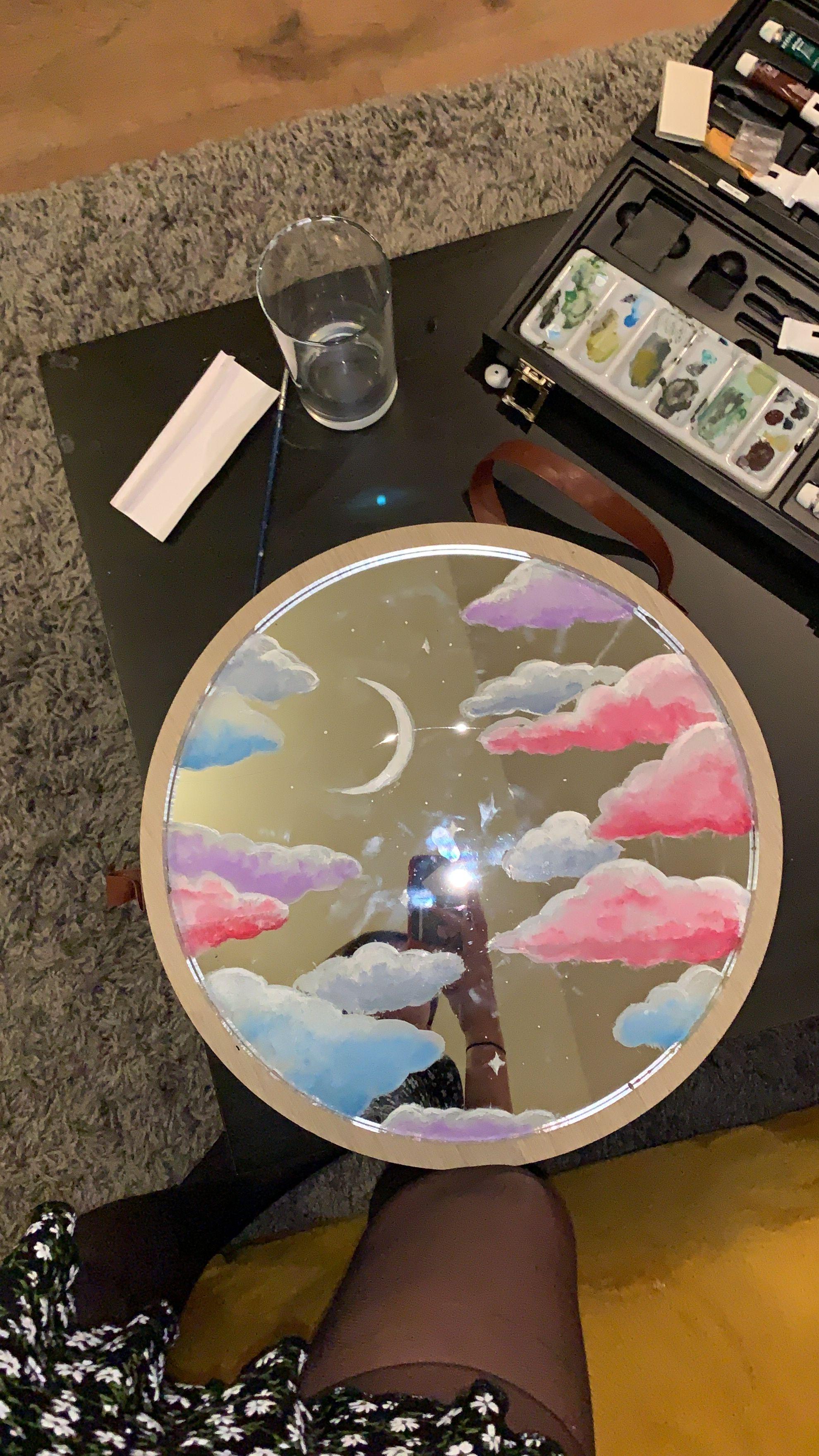 Acrylic Painted Mirror Mirror Painting Art Room Doors Vinyl Art Paint