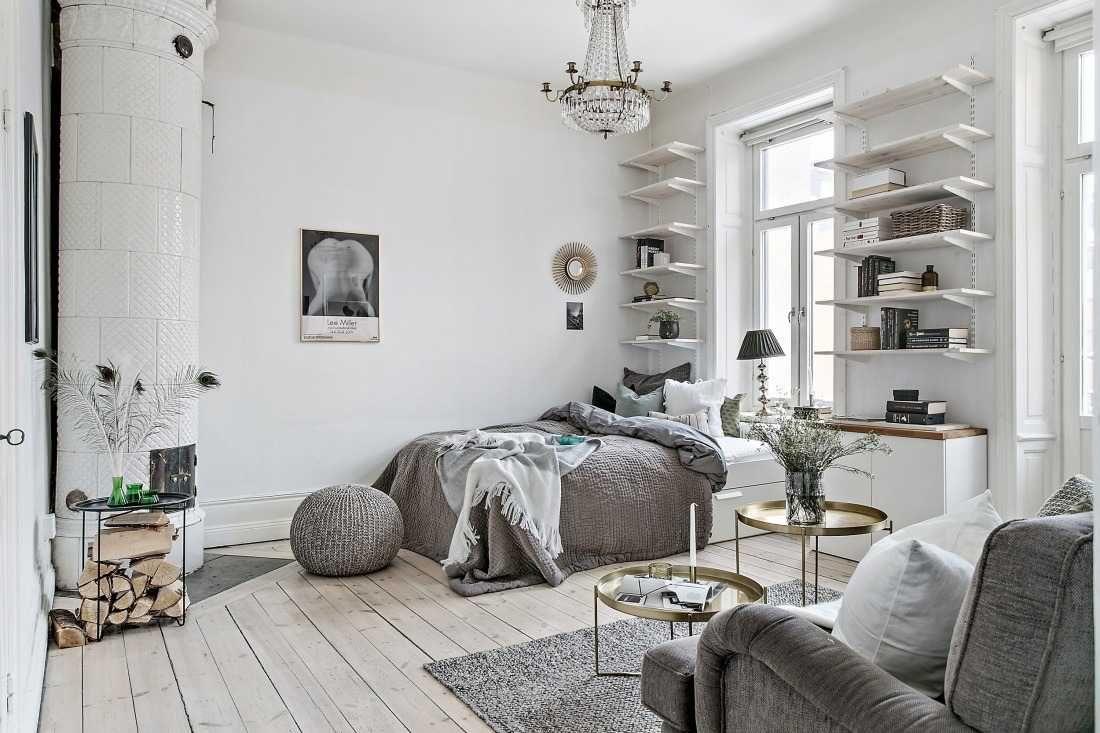 Einrichtungsbeispiele Fur Wohn Und Schlafzimmer In Einem Raum Funktionale Und Stilvolle Ideen Fur Die Einzimmerwohnung In 2020 Wohnung Wohnen Wohnung Einrichten Tipps