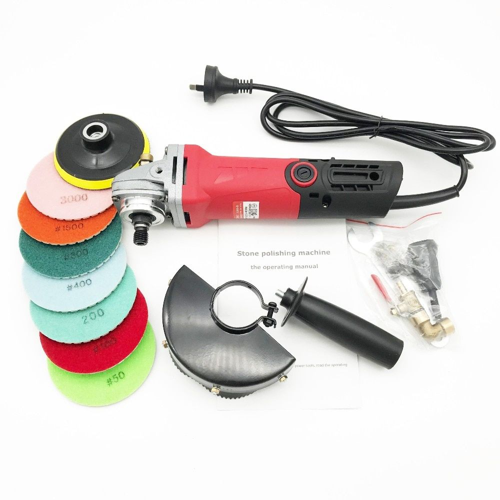 Brand New Hand Variable Speed Wet Polisher Grinder For Marble Granite Stone 860w With One Lot Diamond Resin Polishing Pads Granite Stone Marble Granite Granite