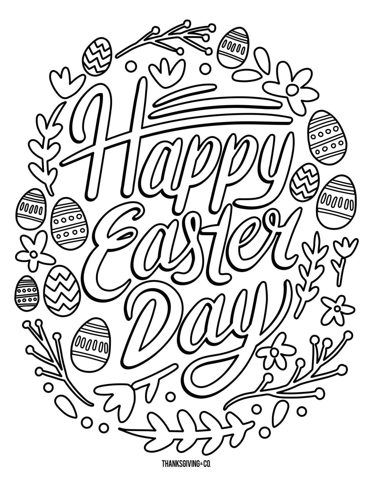 5 Free Printable Easter Coloring Pages For Adults That Will Relieve Holiday Stress Free Easter Coloring Pages Easter Coloring Pages Printable Easter Coloring Sheets