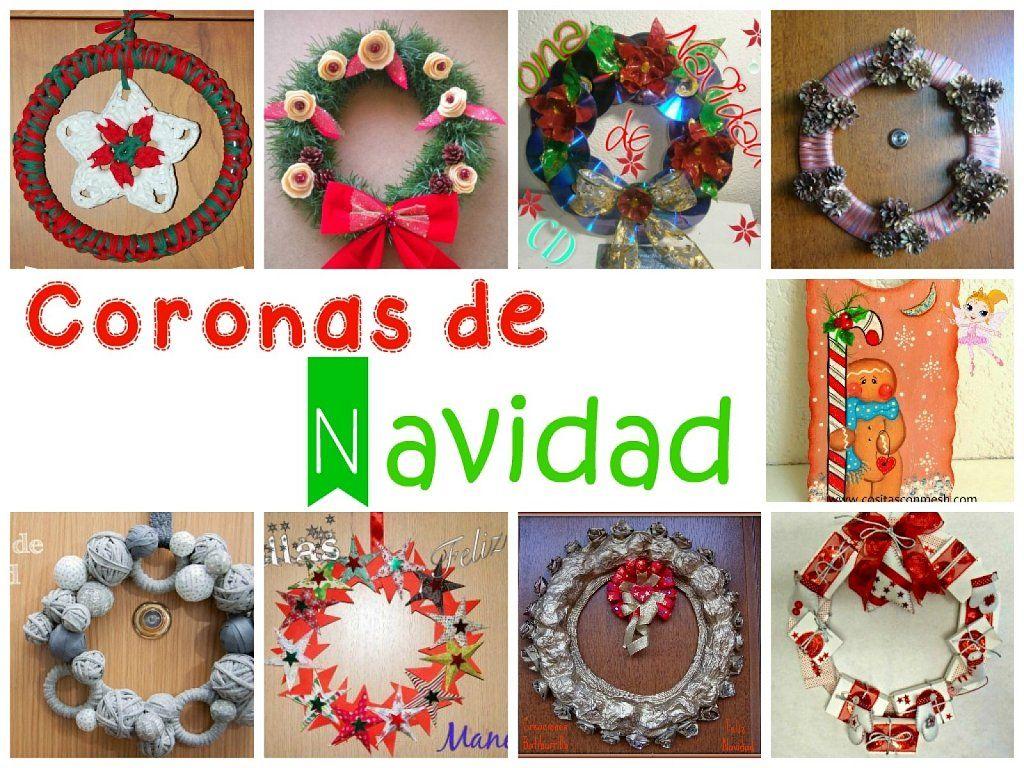Coronas de navidad para decorar la puerta de casa wreaths - Manualidades para decorar en navidad ...